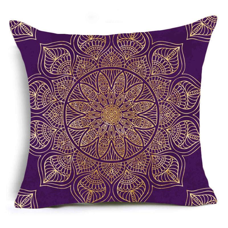 Yin Yang Mandala Flower Zafu Meditation Cushion Covers