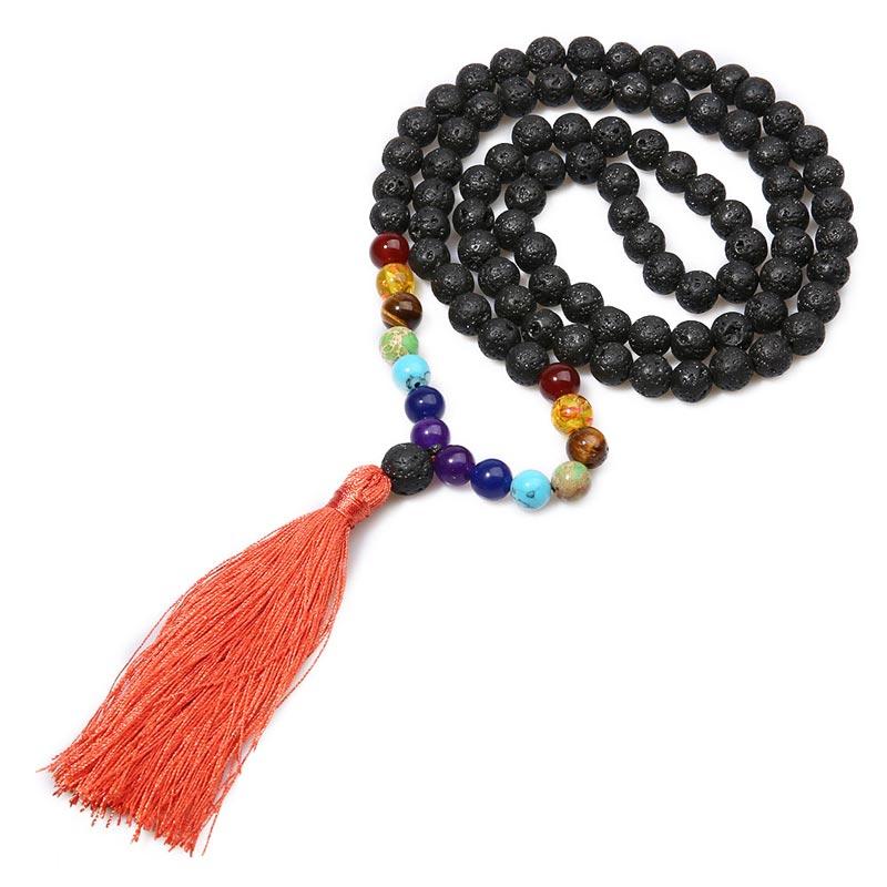 Seven Chakra Buddhist Prayer Mala Beads
